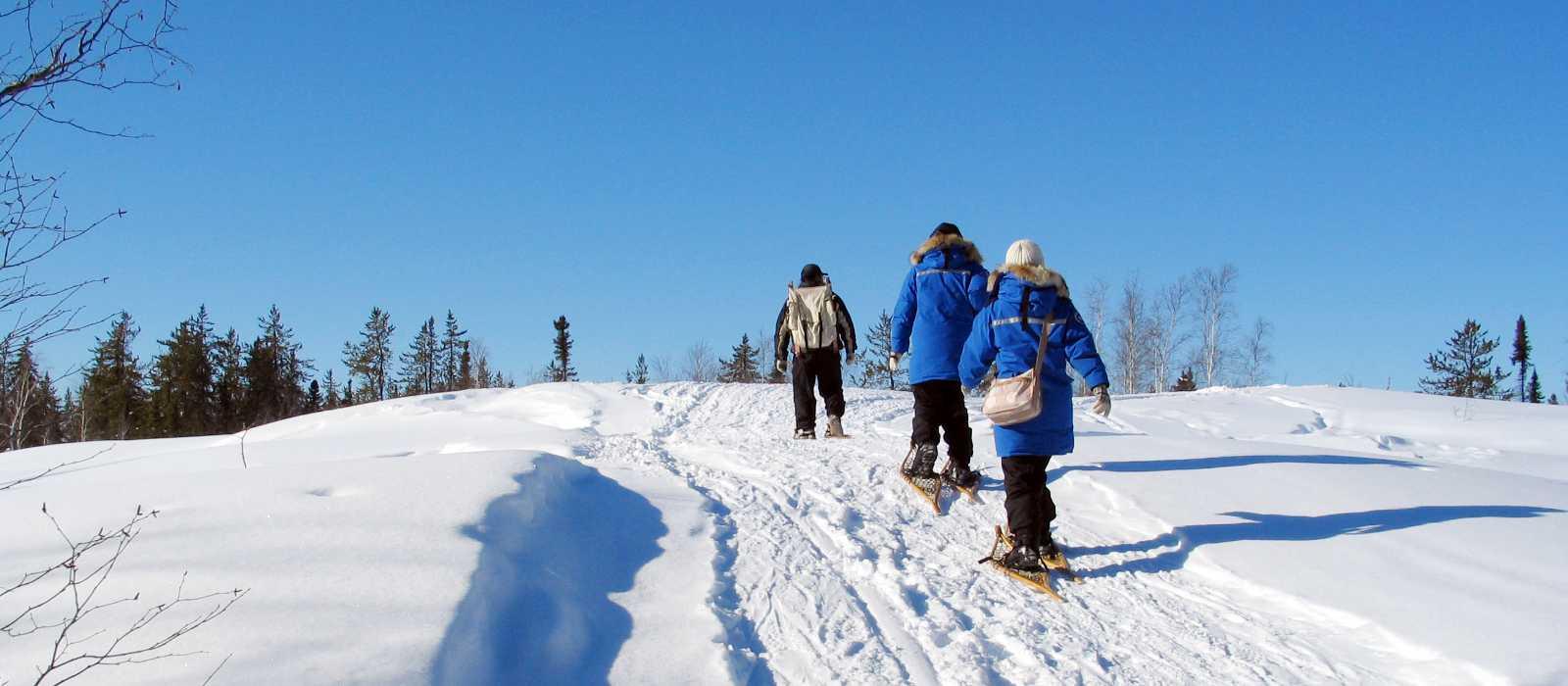 Unterwegs mit Snowshoes