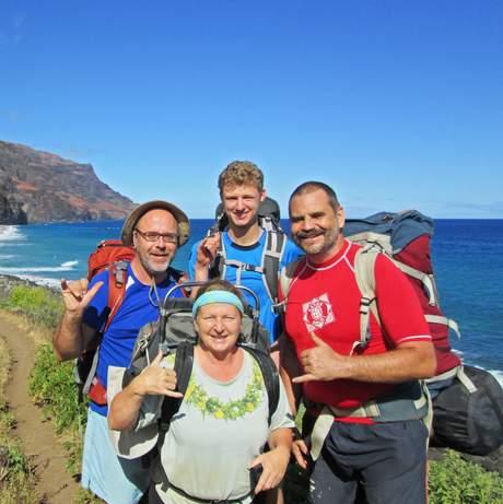 Leon und Familie auf Hawaii