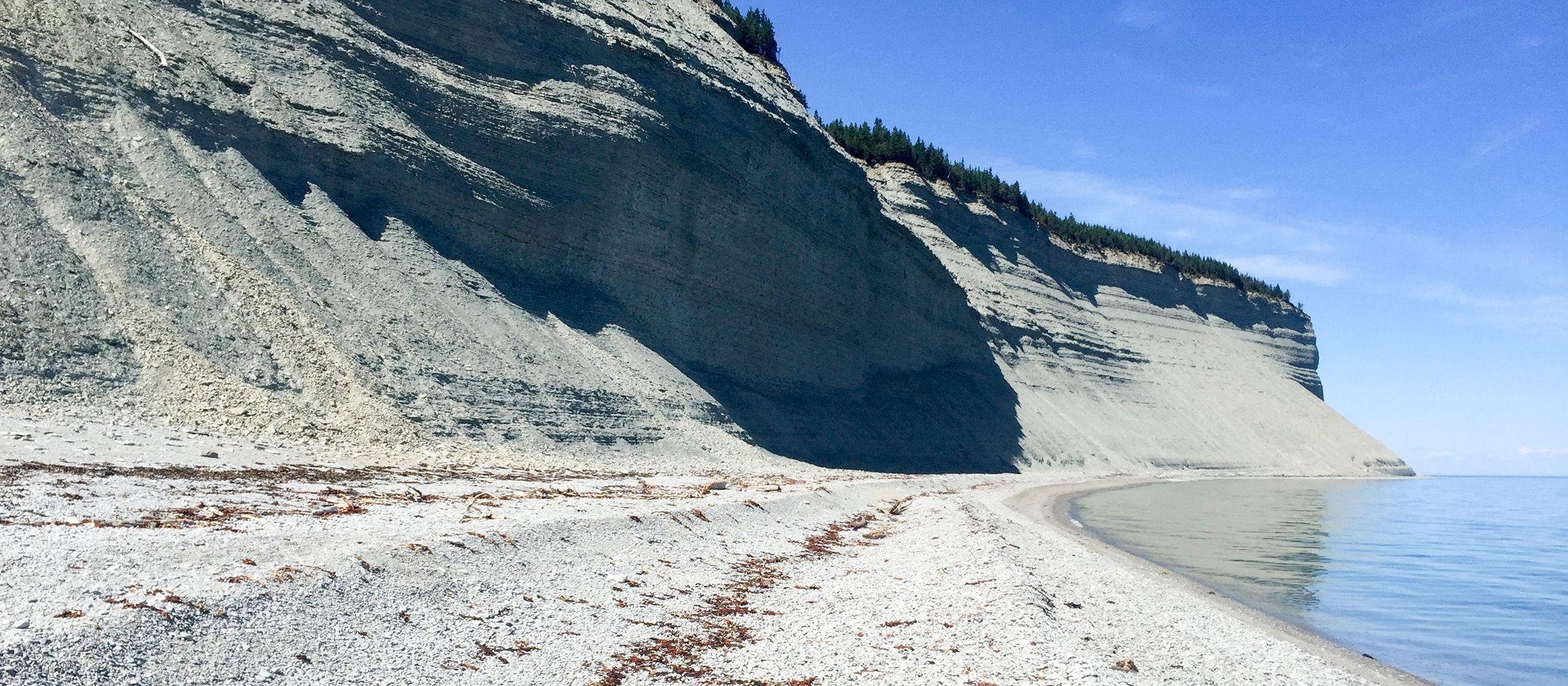 Steilküste auf Anticosti Island