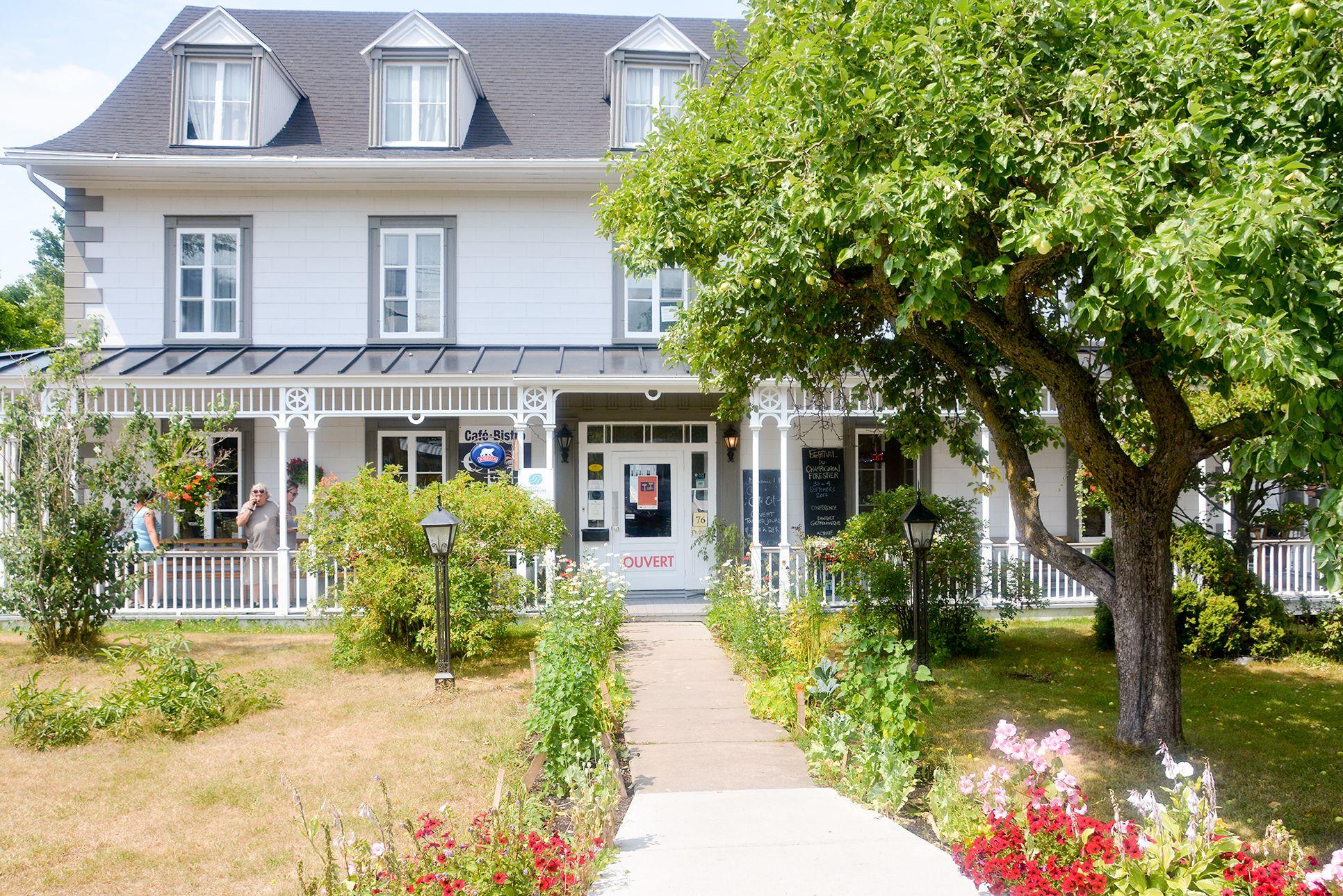 Das Coté Est Café in der Stadt Kamouraska in Kanada