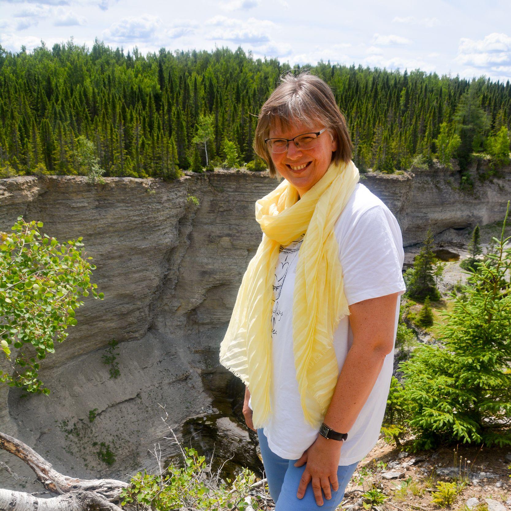 Mitarbeiterin Karin auf Anticosti Island in Kanada