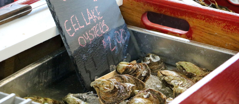 Austern auf dem Farmers Market in Halifax
