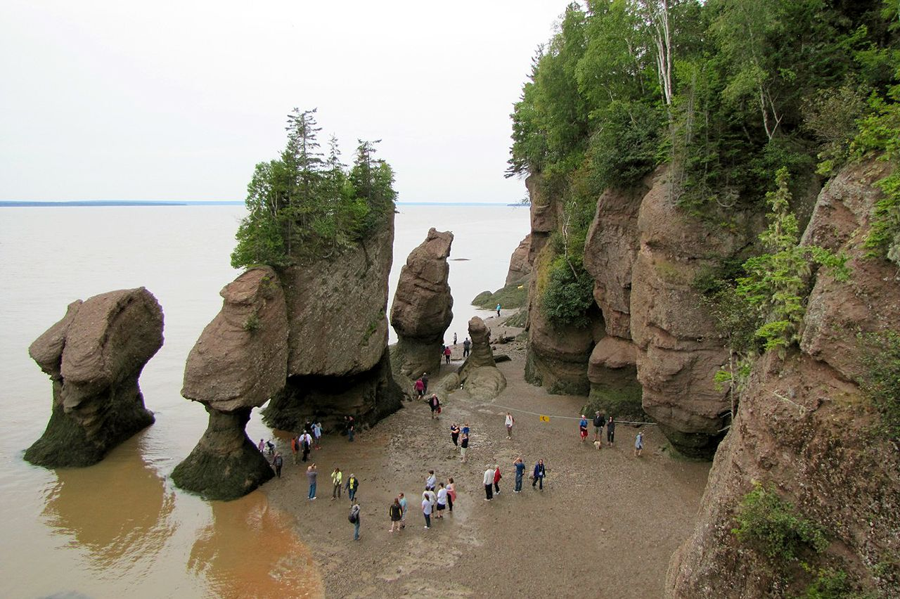 Die Gesteinsformation Hopewell Rocks