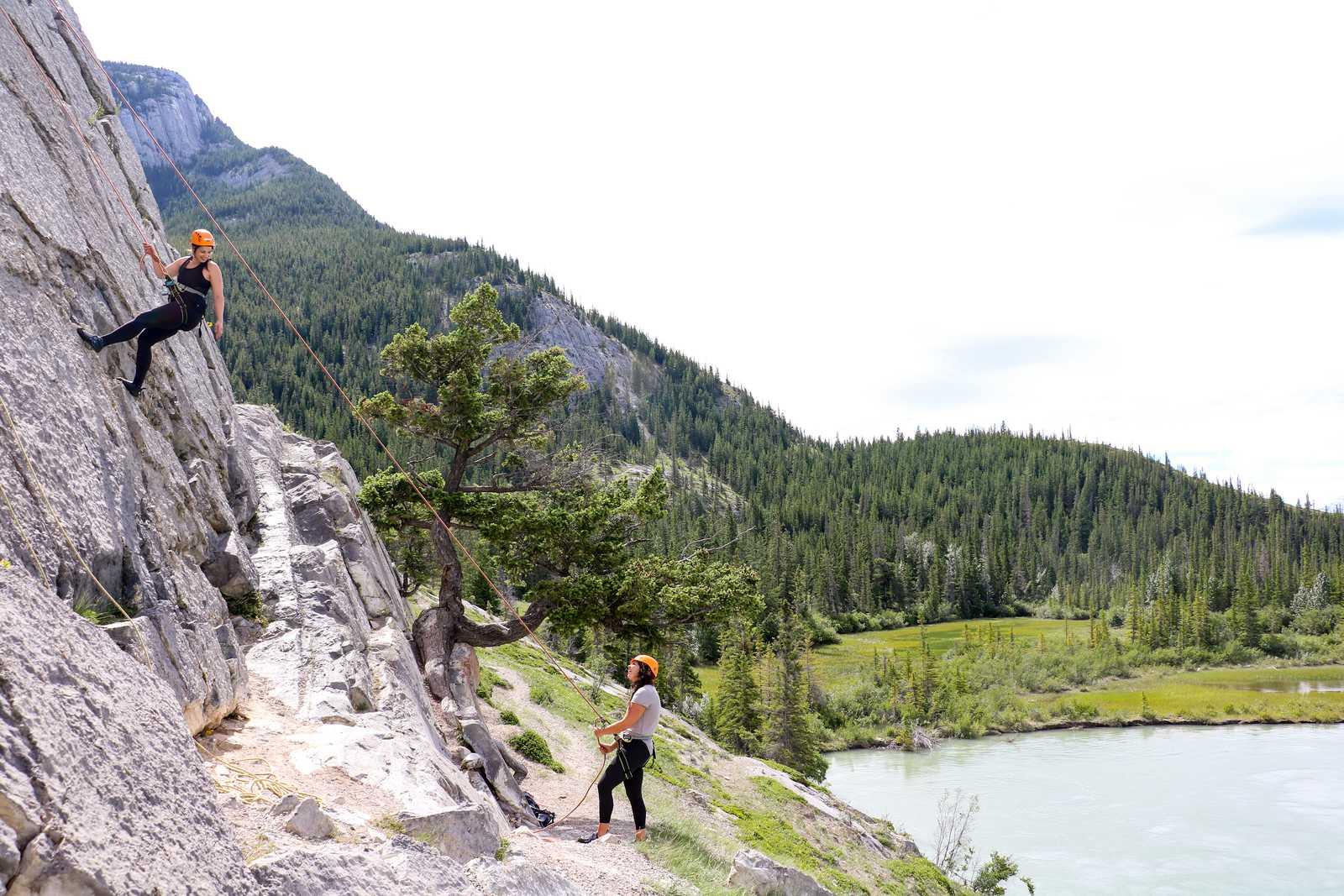 Klettern im Jasper National Park
