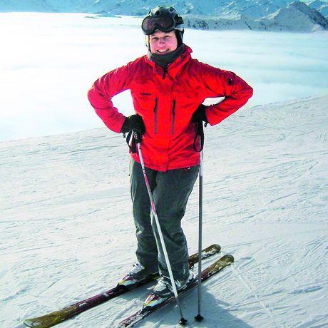 Kathrin Mantzel beim Skifahren