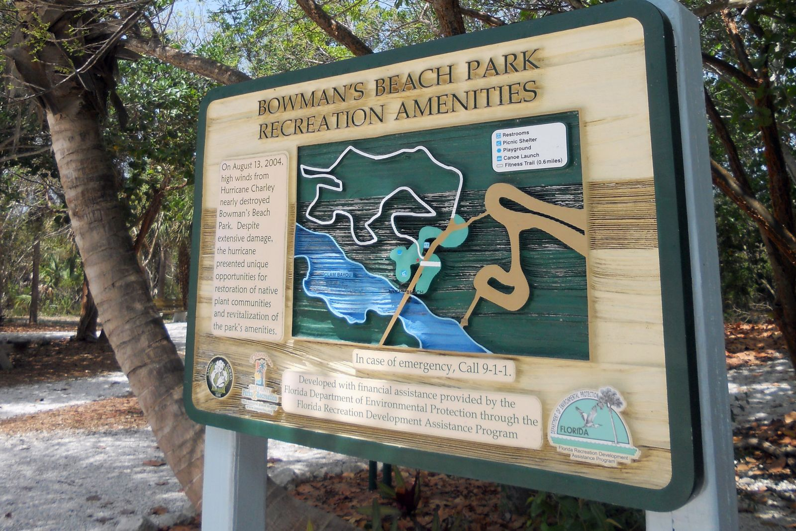 Übersichtskarte Bowman's Beach Park