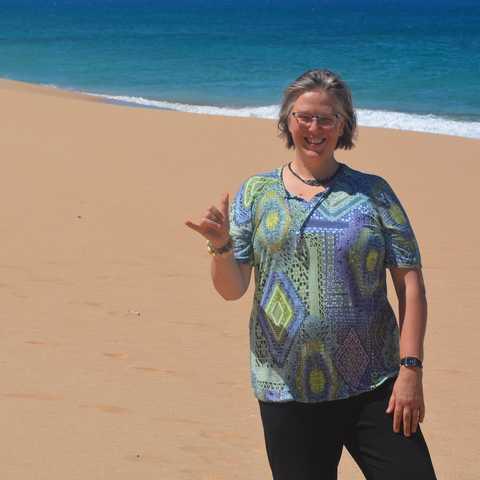 Karin am Punahoa Beach