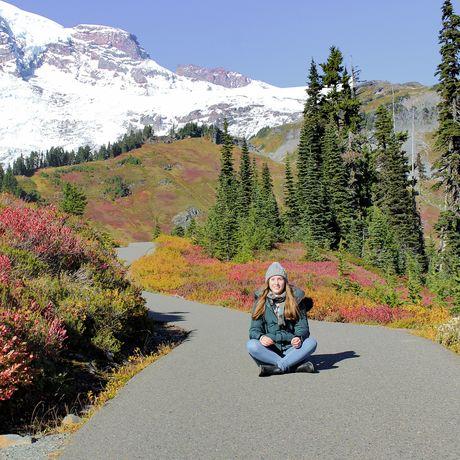 Azubi Jessica im Mount Rainier Nationalpark