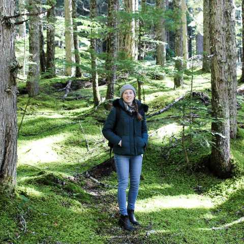 Azubi Jessica im Mount Rainier National Park