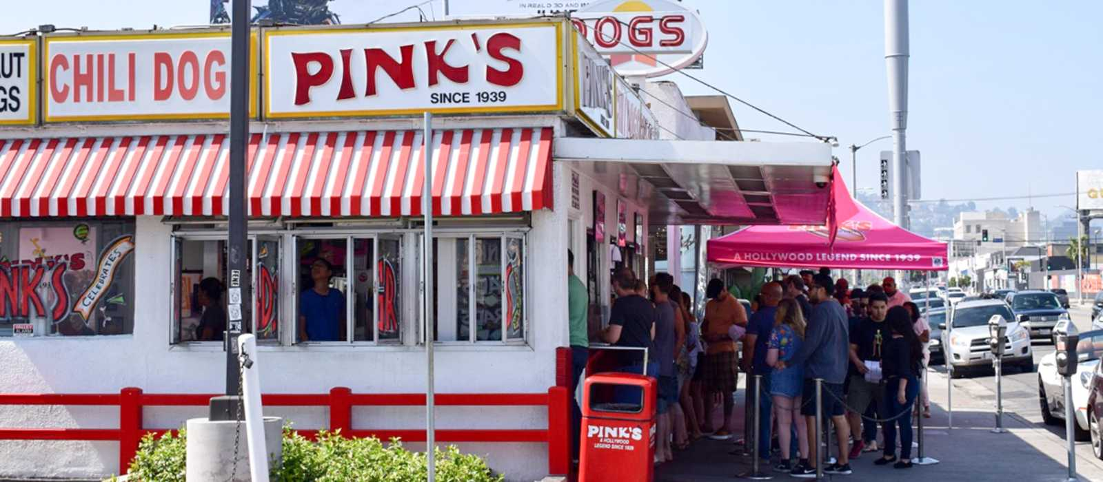 Pink's Hot Dogs in L. A.