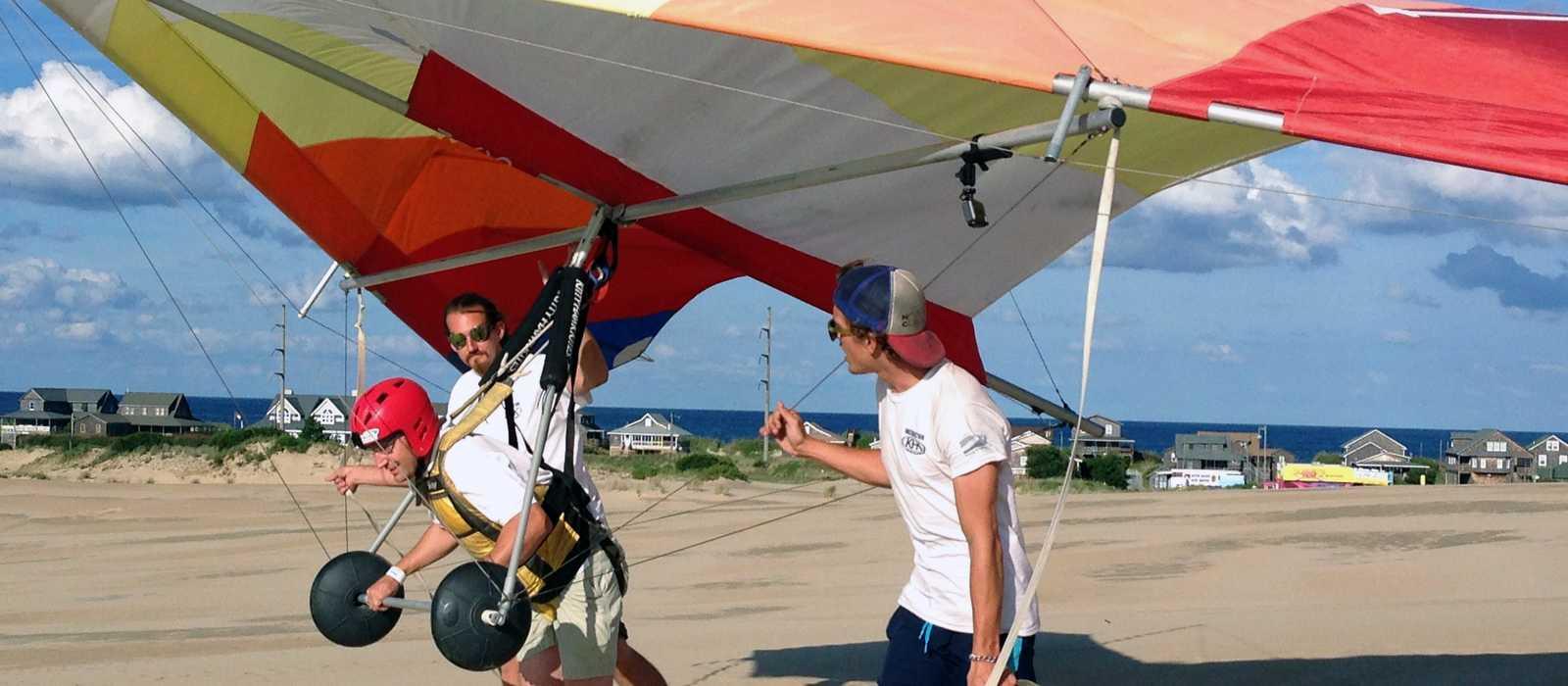 Erste Flugversuche mit dem Glider