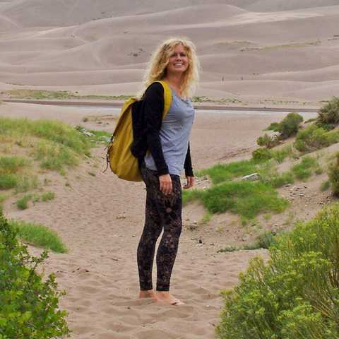 Nele im Great Sand Dunes Nationalpark