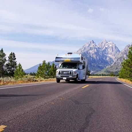 Camper im Grand Teton Nationalpark
