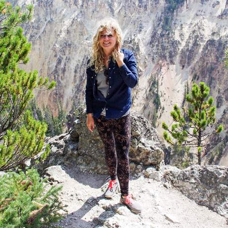 Nele im Yellowstone Nationalpark