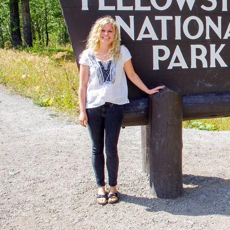 Nele beim Yellowstone Nationalpark