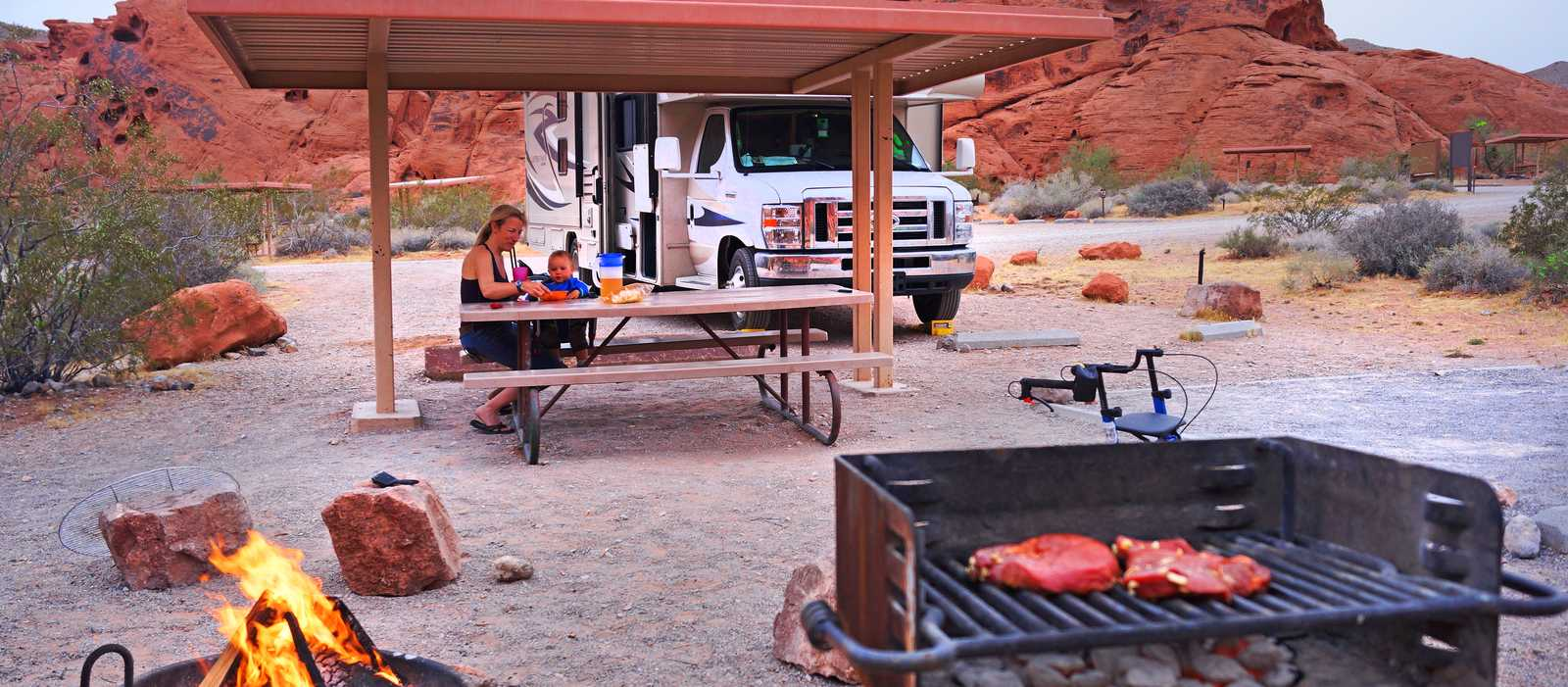 Campground im Valley of Fire State Park