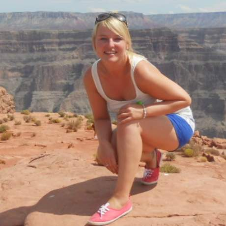 Nora Gruner am Grand Canyon