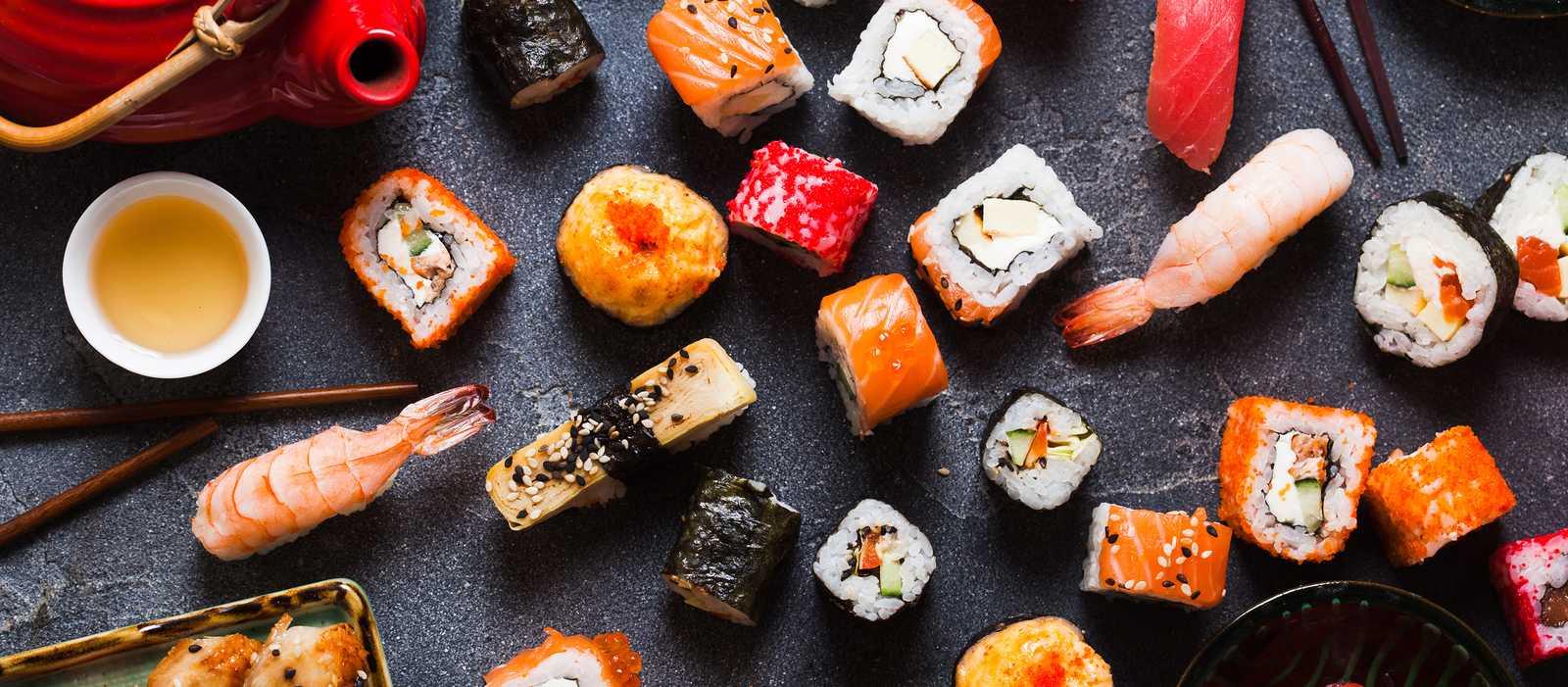 Leckere Sushi-Kreationen