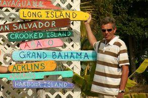 Inselschilder auf Eleuthera, Bahamas
