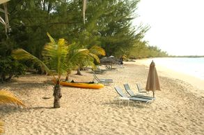 Am Strand des Greenwood Beach Resort, Cat Island