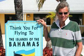 Schild auf den Bahamas