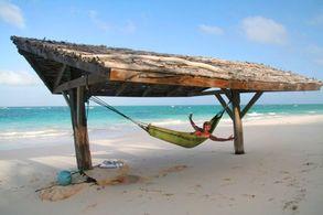 Hängematte am Strand von Cat Island