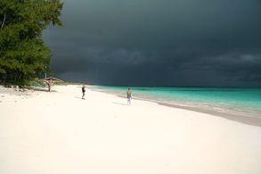 Strand von Cat Island, Bahamas