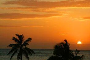 Sonnenuntergang Hawks Nest, Bahamas