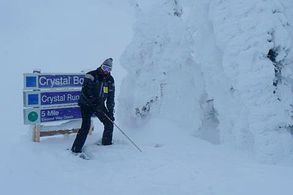 Neuschnee in Sun Peaks, Kanada