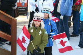 Olympische Stimmung in Whistler