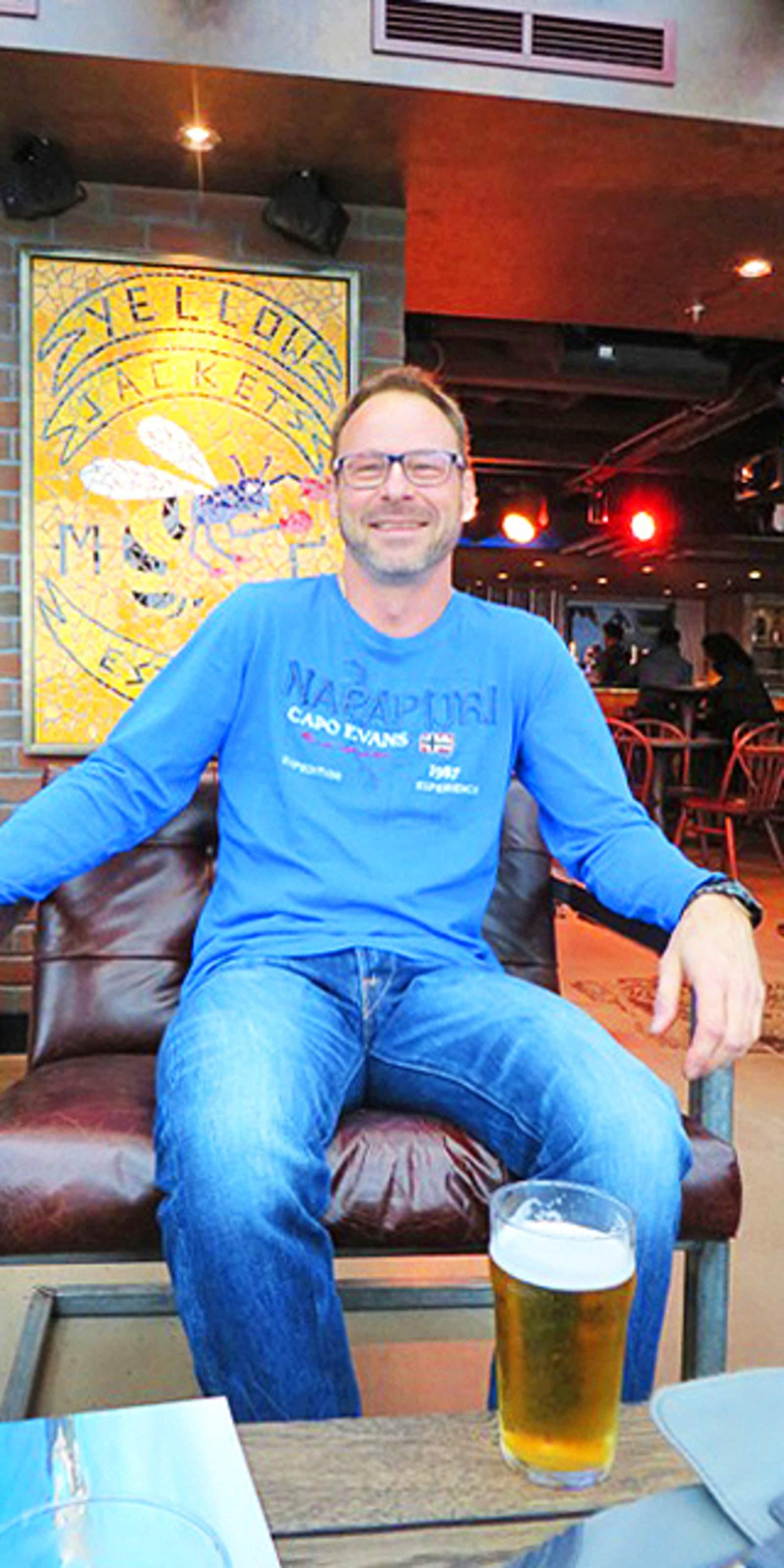 Andreas Neumann auf der NCL Escape im District Brew House