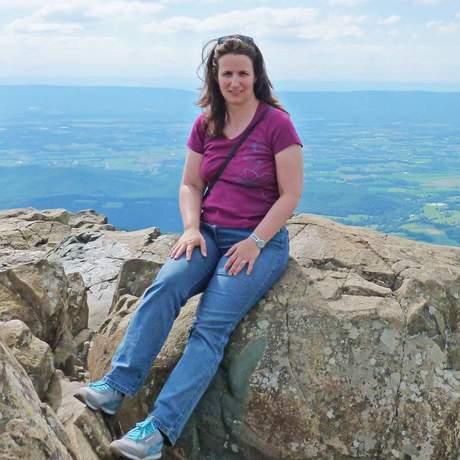 Carmen Paust im Shenandoah National Park