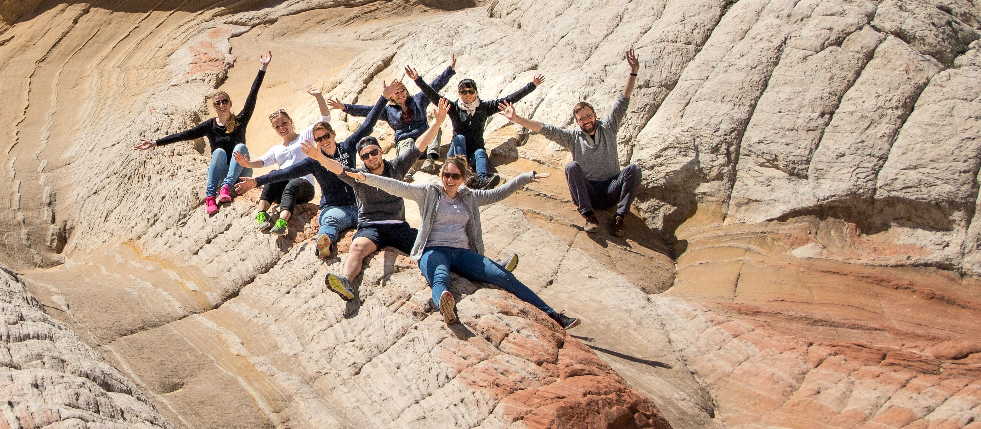 Utah Fam 2017 Gruppenfoto im White Pocket, Arizona