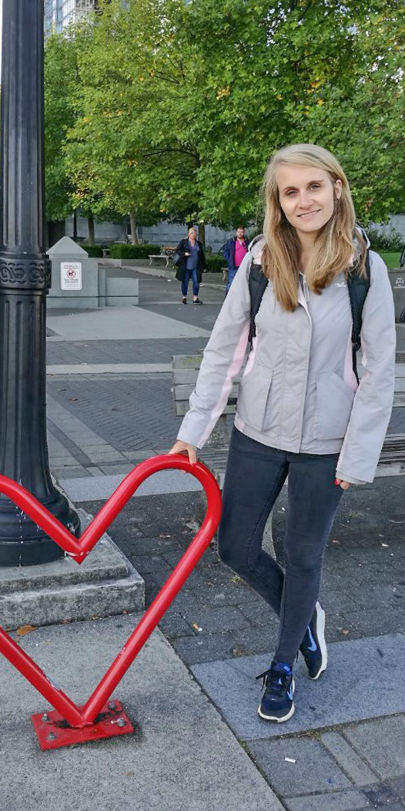Mitarbeiterin Laura Hoffmann in Vancouver