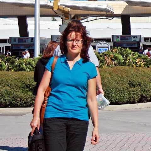 Irene Schnell am Kennedy Space Center