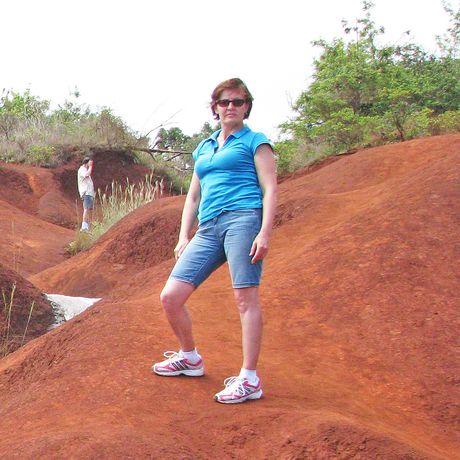 Irene Schnell beim Waimea Canyon Drive