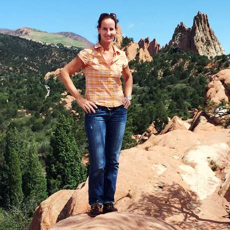 Katja Höbel im Garden of the Gods