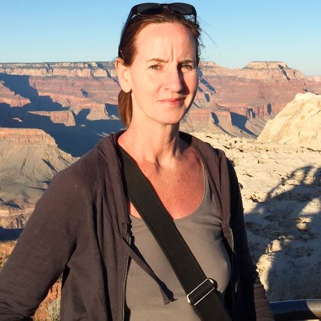 Katja Höbel im Grand Canyon