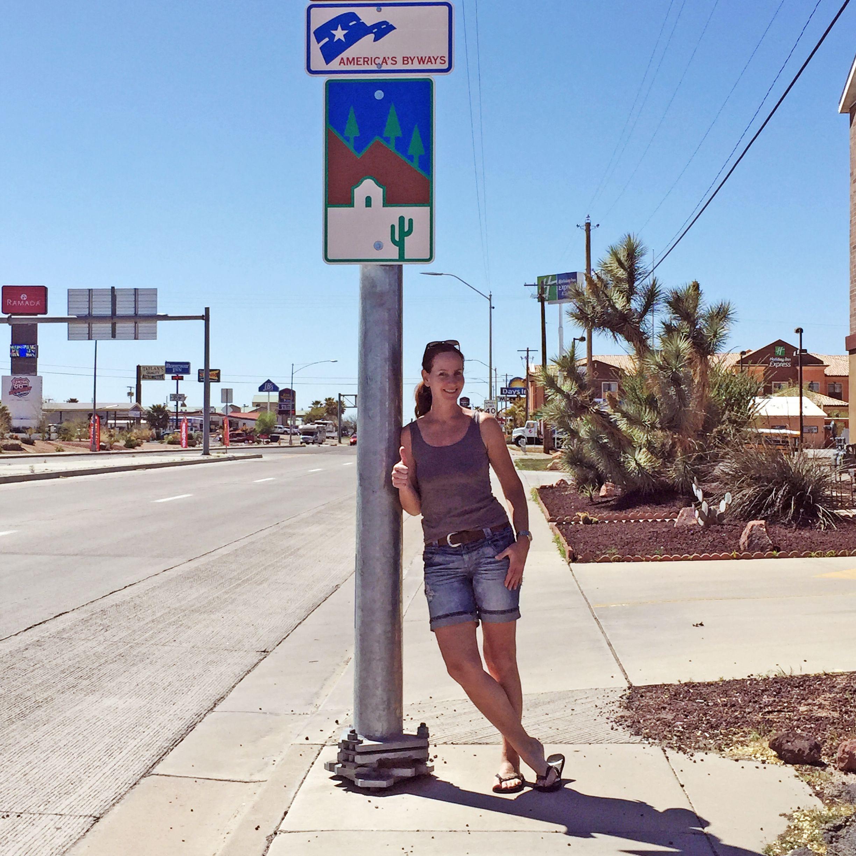 Katja Höbelan der Route 66