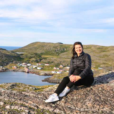 CANUSA Mitarbeiterin Sarina Keil auf Fogo Island in Neufundland