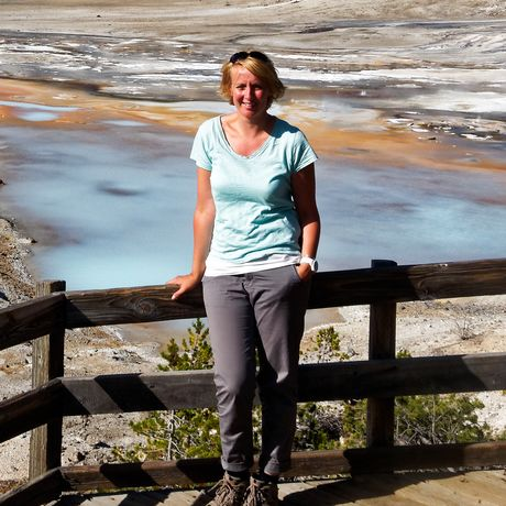 Anngret Rossol im Yellow Stone Nationalpark