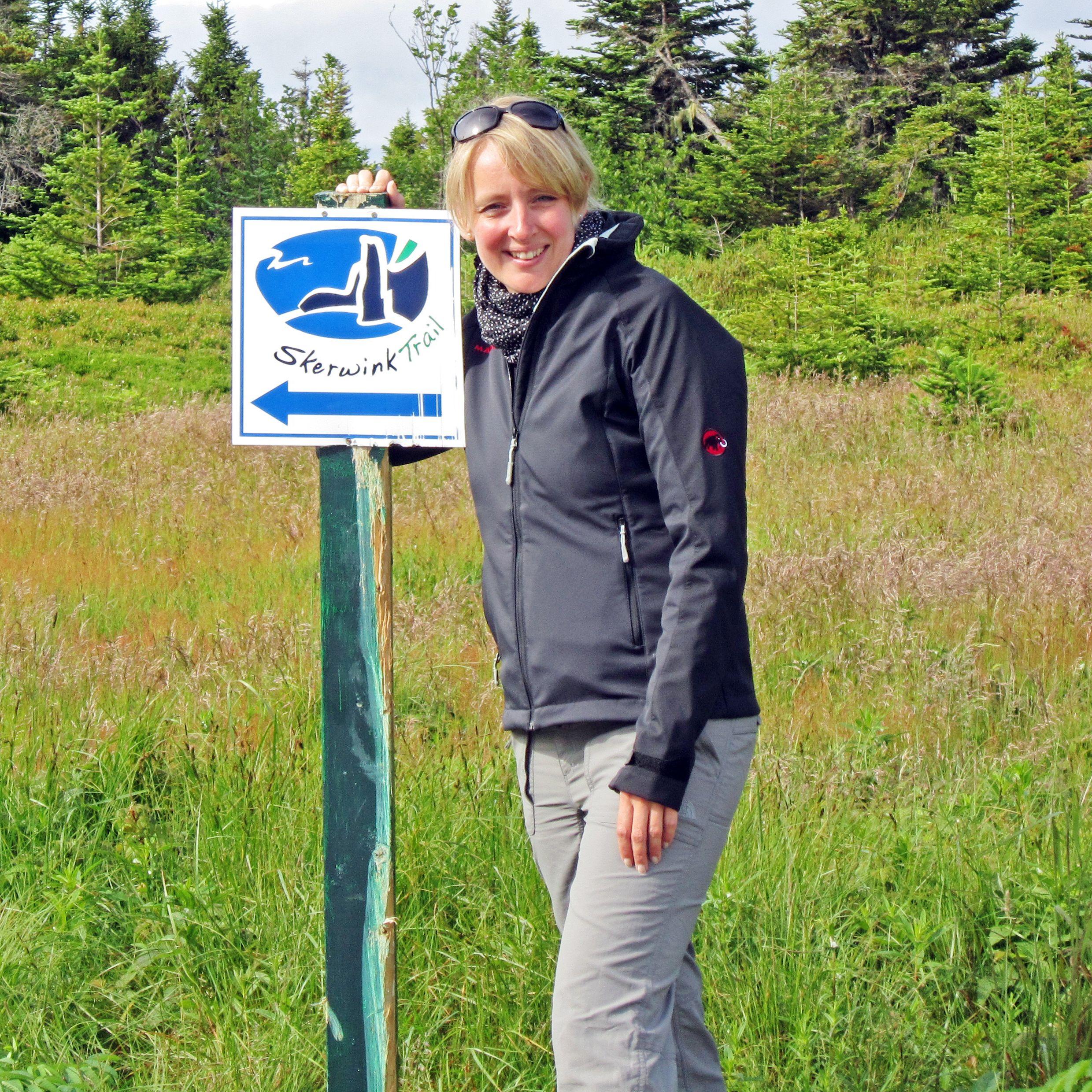 Anngret auf dem Skerwink Trail
