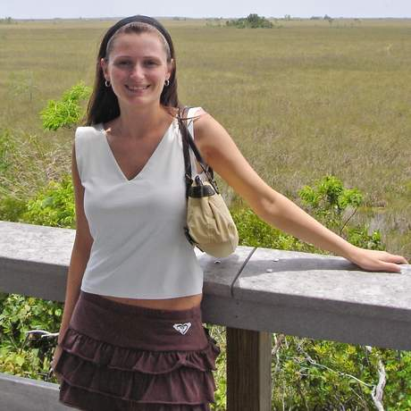 Portraet Bente in den Everglades