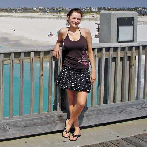 Bente auf der Pier von Pensacola Beach