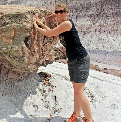 Im Petrified Forest National Park