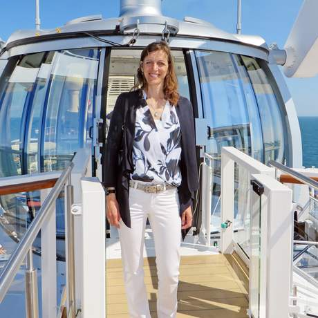 Birthe Witte auf der Anthem of the Seas