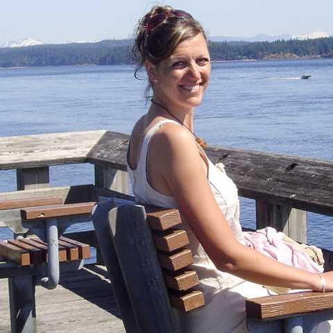 Mitarbeiterin Birthe auf Vancouver Island