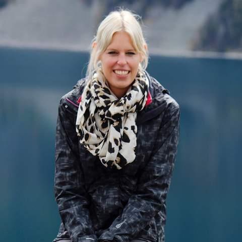 Christina Maier in Lake Louise, Alberta