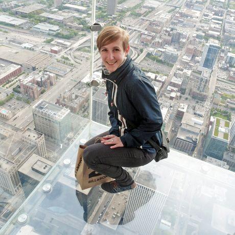 Auf dem Skydeck des Willis Towers