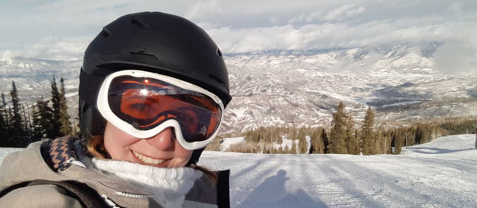 Snowboarding in Snowmass